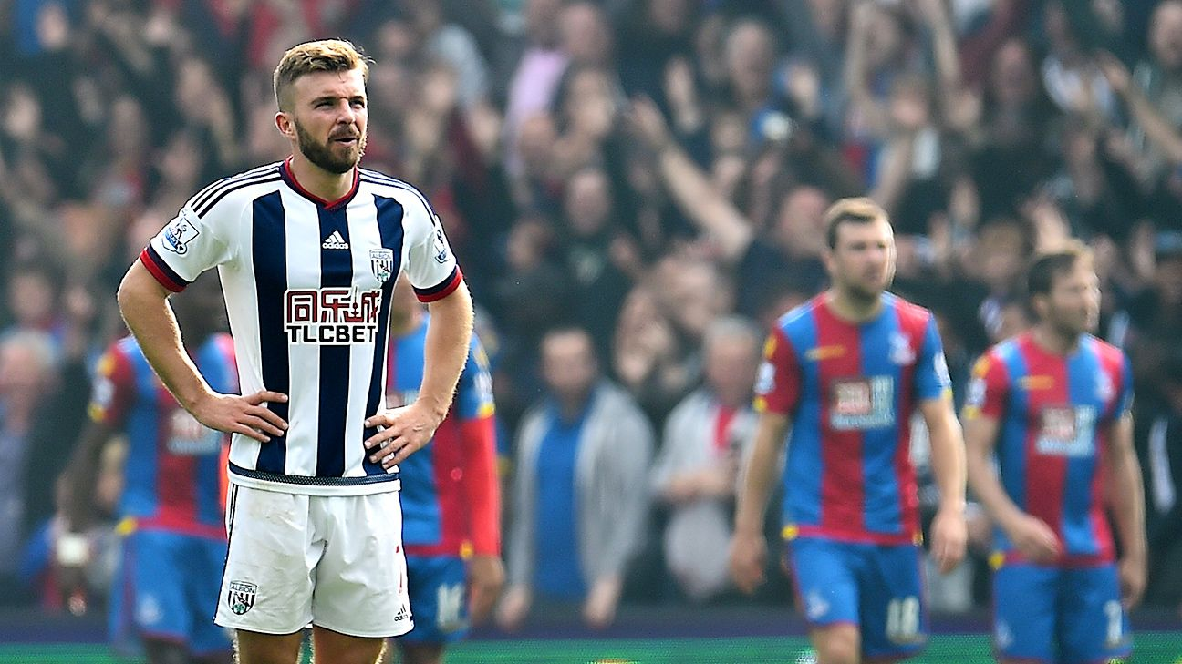 It was another frustrating afternoon for James Morrison and West Brom on Saturday against Palace.