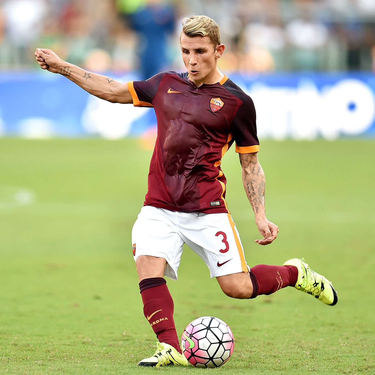 Lucas Digne has started all but one match this season for Roma.