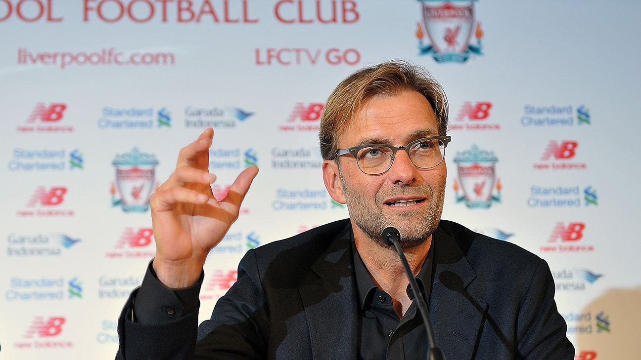 Jurgen Klopp charisma shines through in Liverpool news conference unveiling