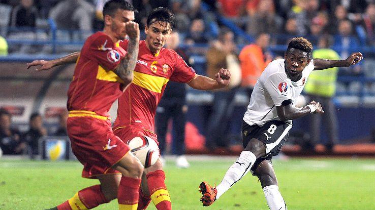 David Alaba has four goals during Euro 2016 qualifying for Austria.