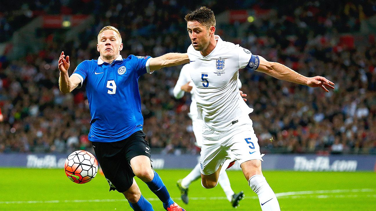 It was a tepid performance from Gary Cahill, right, and England against Estonia on Friday night at Wembley.