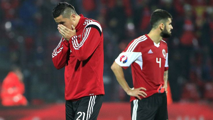 Albania's Euro 2016 hopes took a hit after their 2-0 defeat to Serbia.