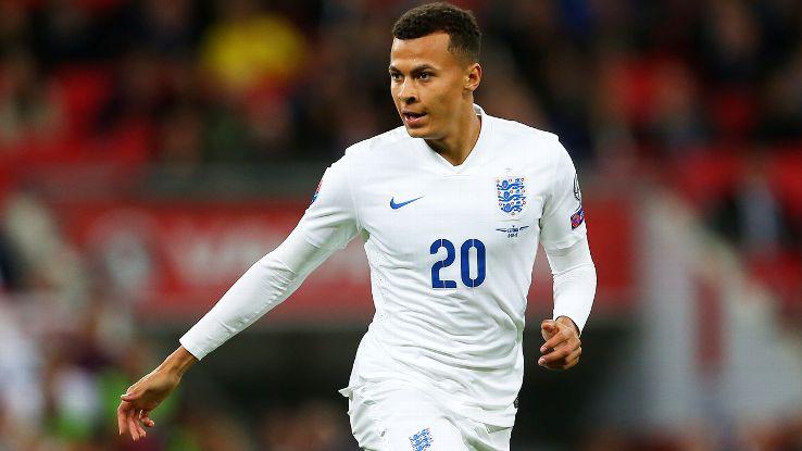 Tottenham attacking midfielder Dele Alli, 19, has already scored for England's senior team.