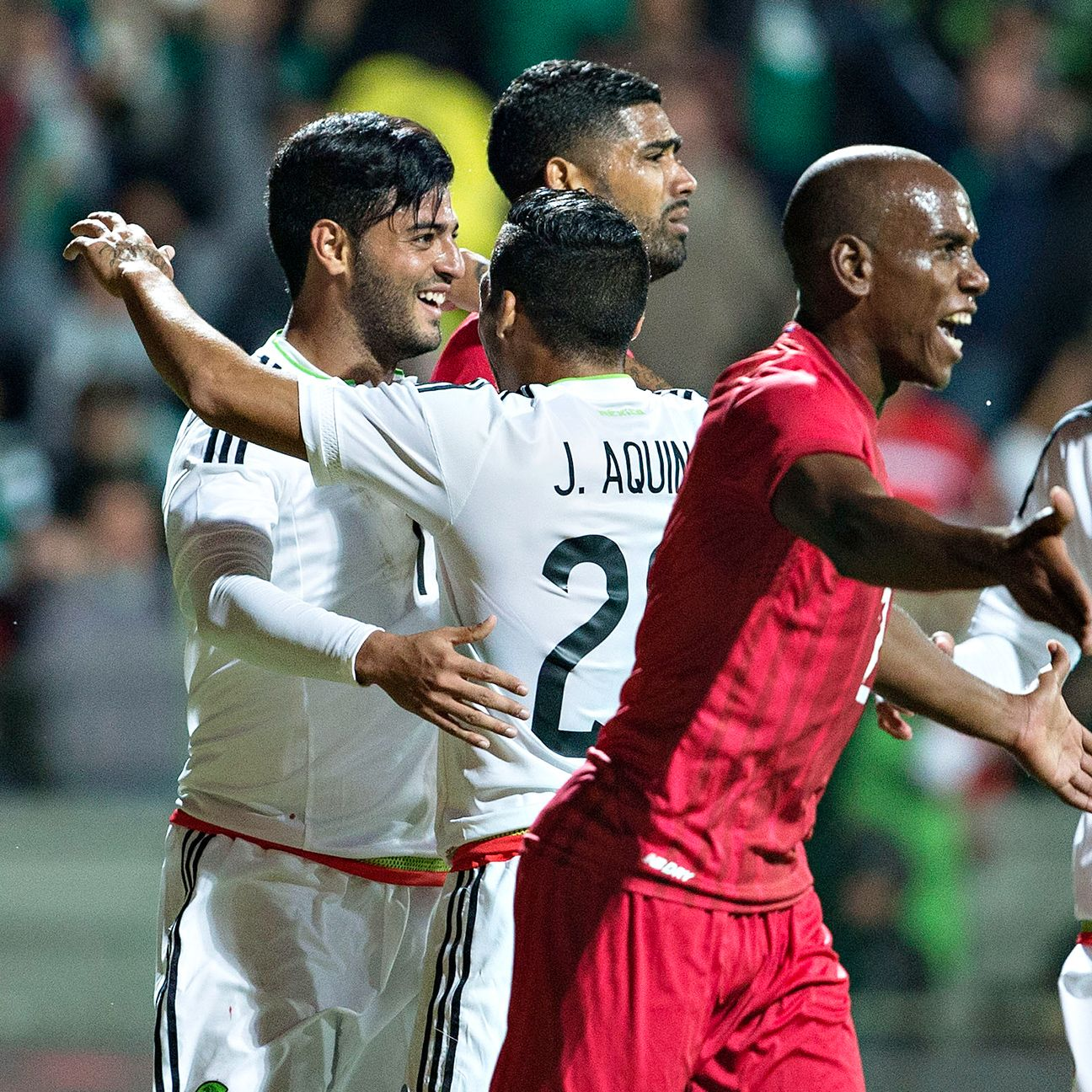 After not appearing in Saturday's win against the United States, Carlos Vela scored the lone goal in Mexico's victory.