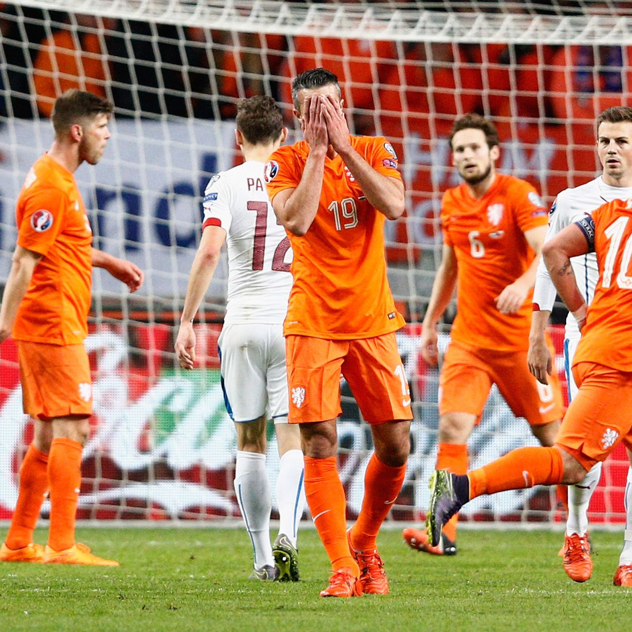 Robin van Persie's own goal on Tuesday night against the Czech Republic capped the Netherlands' abysmal qualifying campaign.