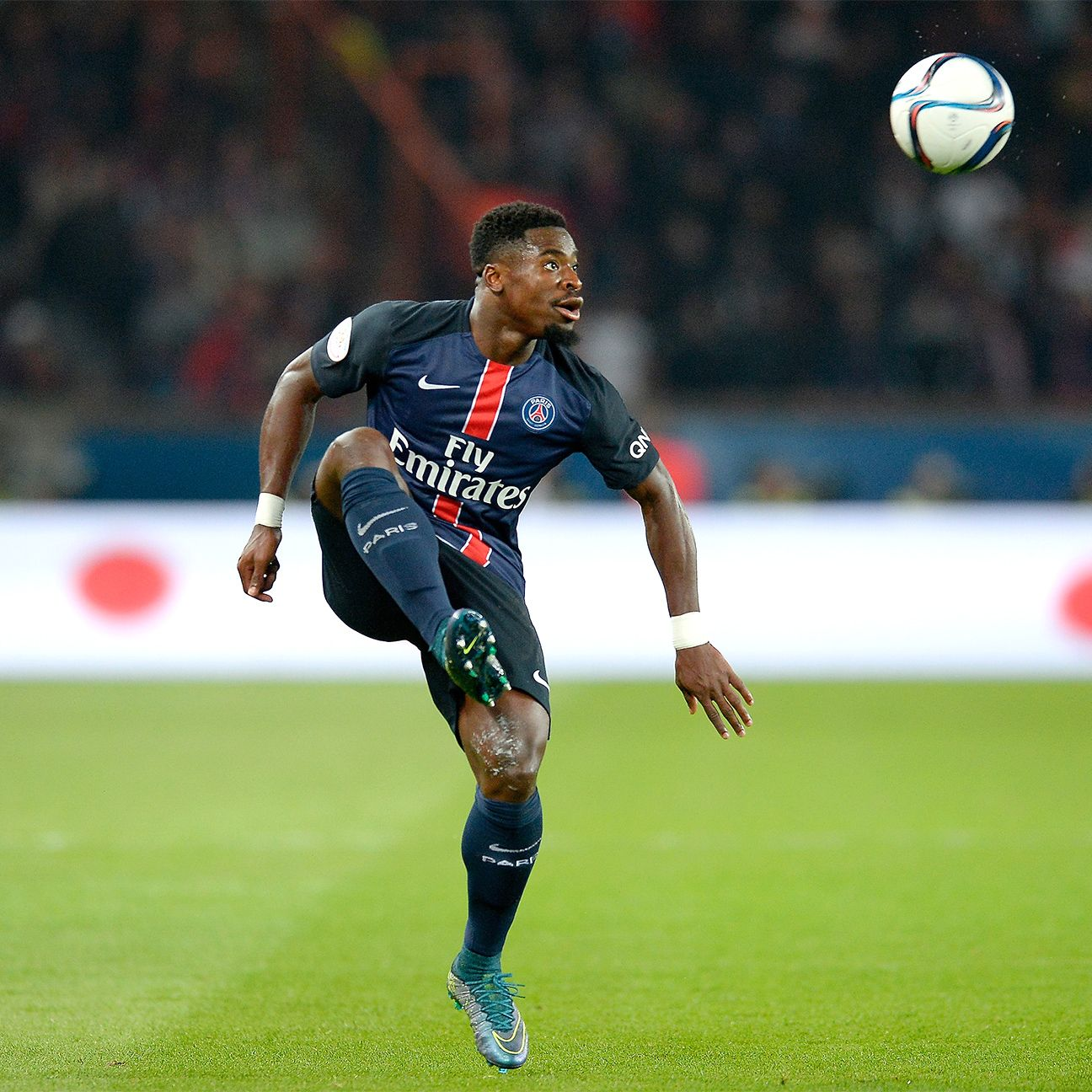 PSG right-back Serge Aurier has three goals in all competitions this season.