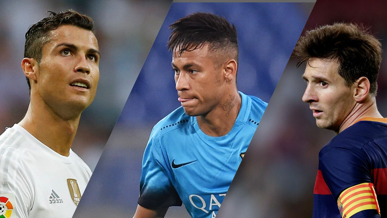 Cristiano Ronaldo, Neymar and Lionel Messi are finalists for the 2015 Ballon d'Or.