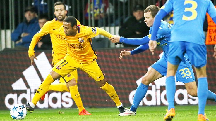 Neymar proved to be a handful for the BATE defence on Tuesday.