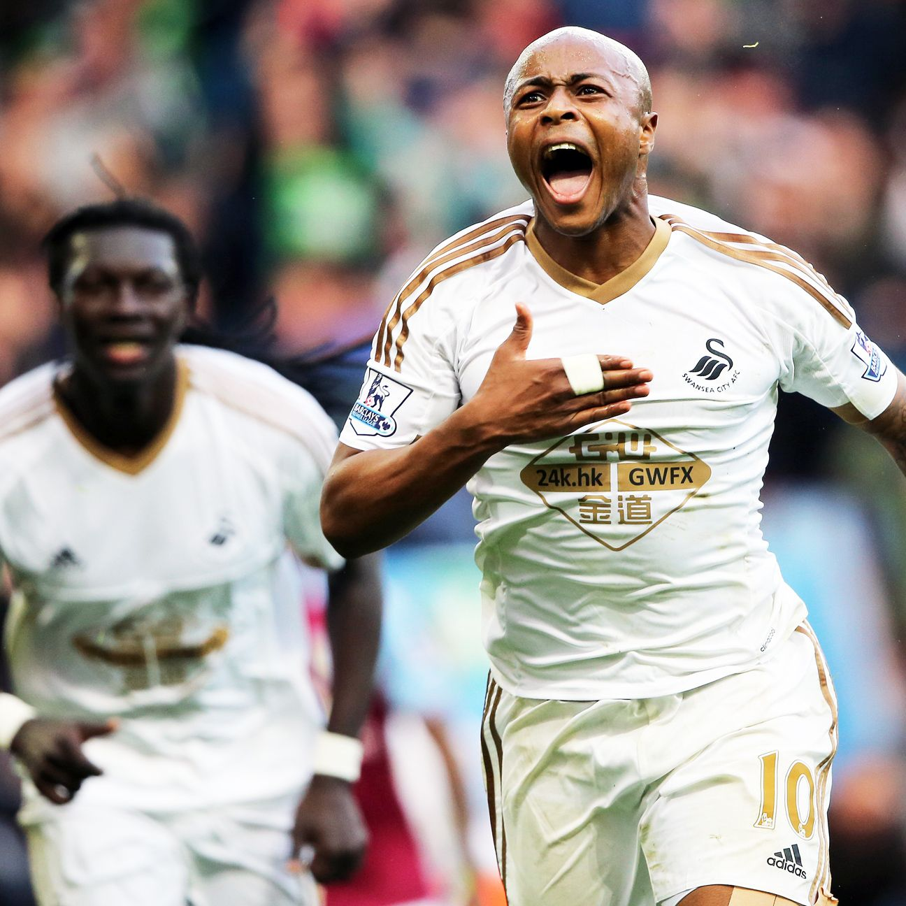 Andrew Ayew capped Swansea's second half comeback with a late goal to earn all three points.
