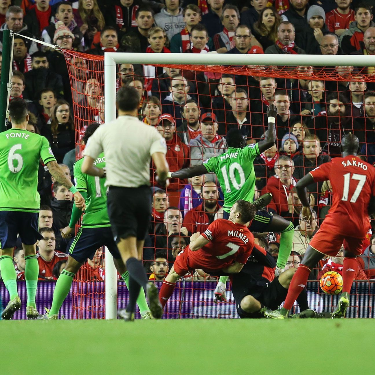 Sadio Mane struck late to earn Southampton a precious point at Anfield.
