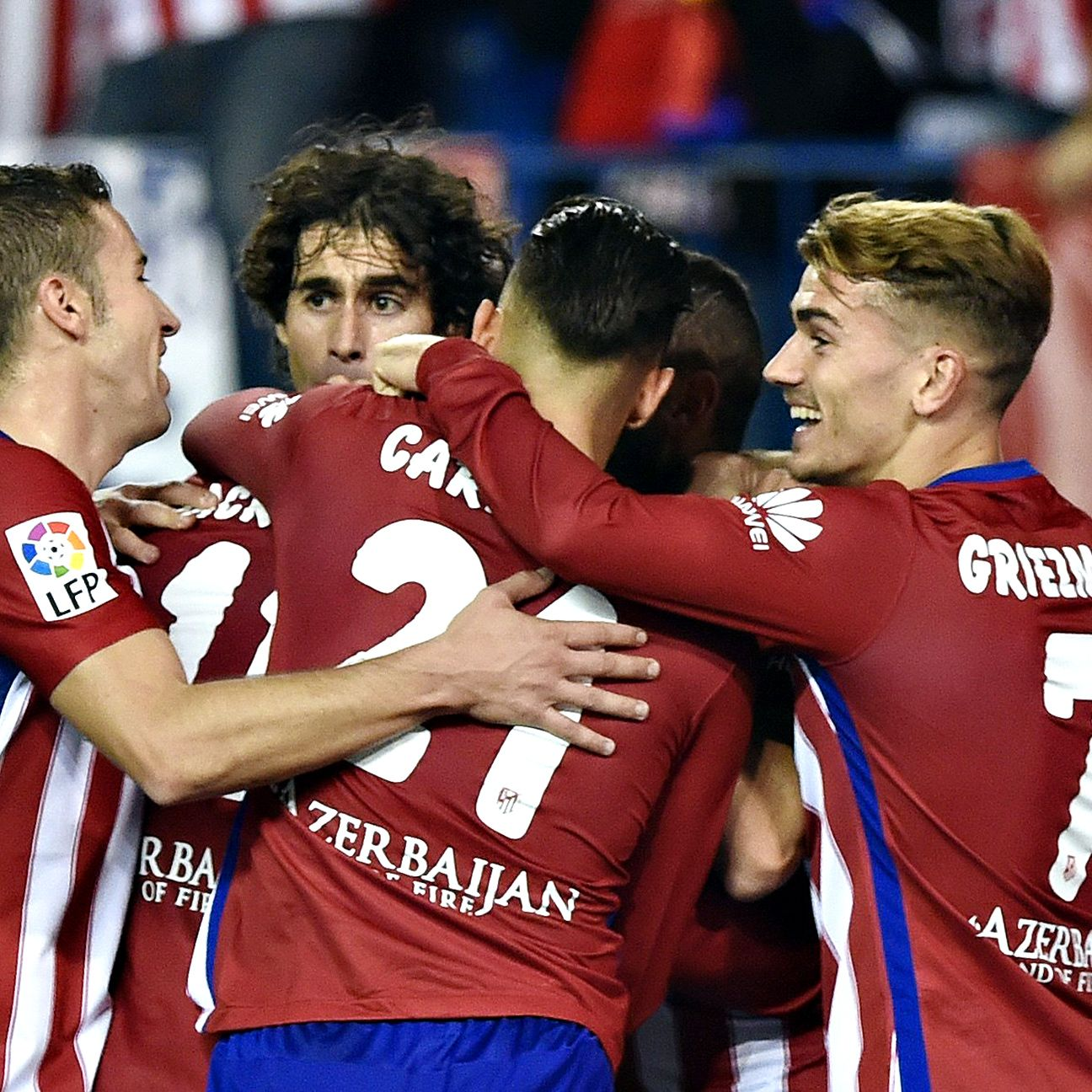 Atletico Madrid are just two points back of Real Madrid and Barcelona after Sunday's win.