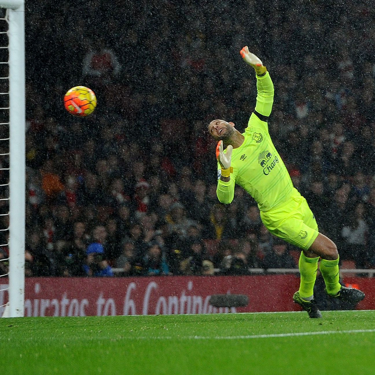 Everton goalkeeper Tim Howard has been mistake-prone in recent weeks.