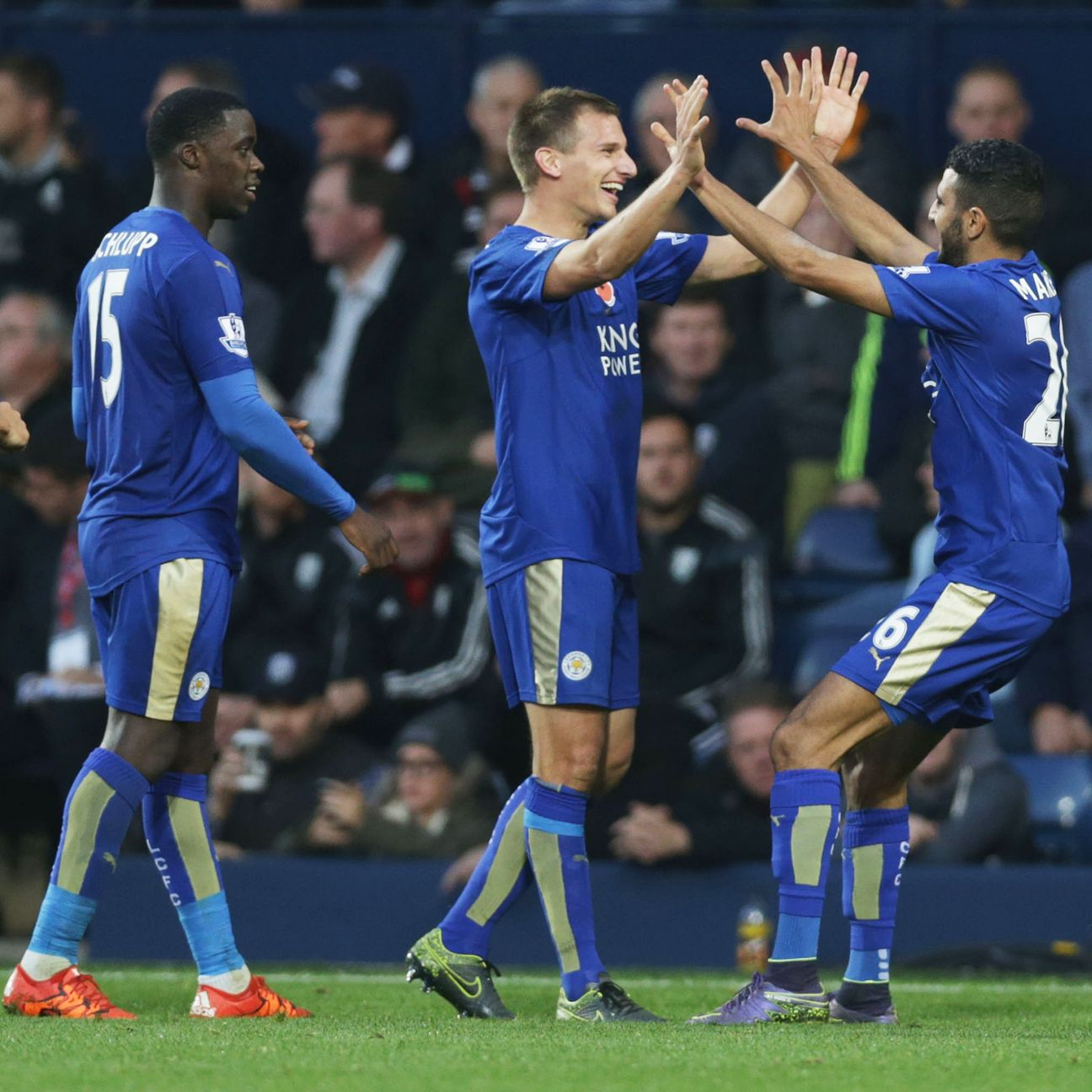 Leicester City's remarkable six-match unbeaten run will be put to the test on Saturday against Manchester United.