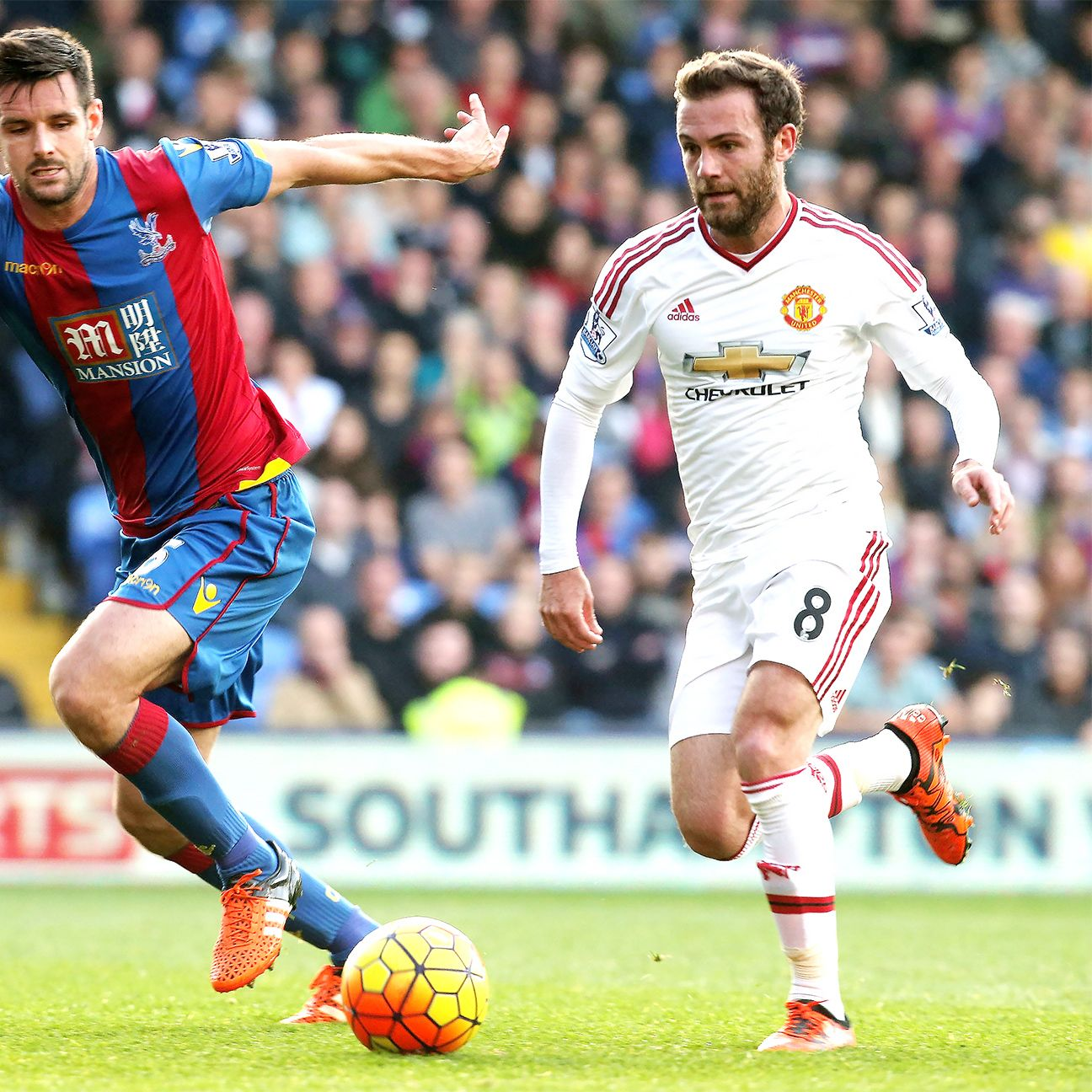 There was no way through for Juan Mata and Manchester United against Crystal Palace on Saturday.
