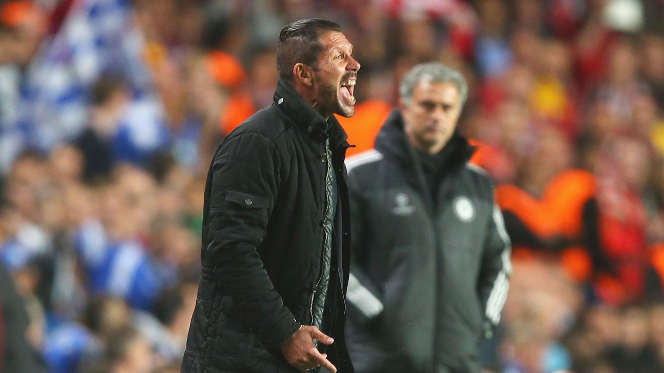 Diego Simeone got the better of Jose Mourinho in Atletico Madrid's 2013-14 Champions League semifinal victory over Chelsea.