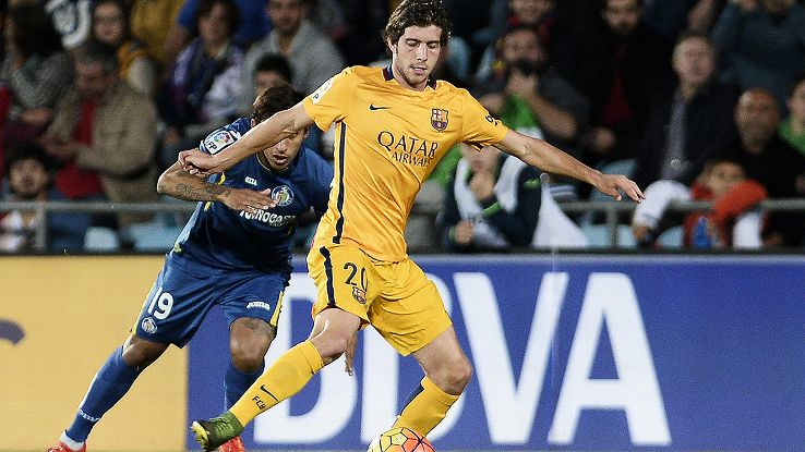 Sergi Roberto was at his best in Barcelona's 2-0 win at Getafe over the weekend.