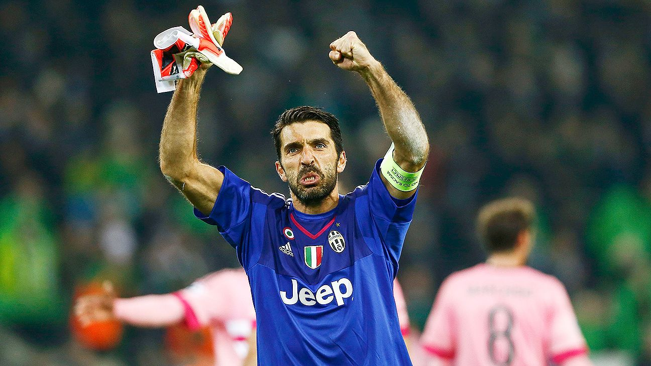Goalkeeper Gianluigi Buffon has been with Juventus since 2001.