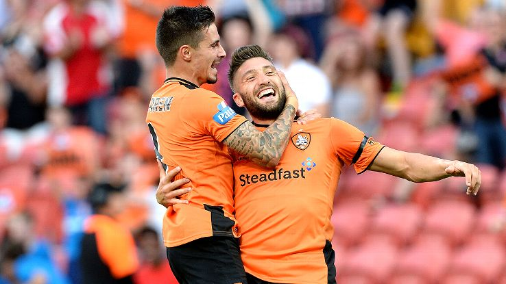 Brisbane Roar duo Jamie Maclaren, left, and Brandon Borello, right, have become one of the most lethal partnerships in the A-League.