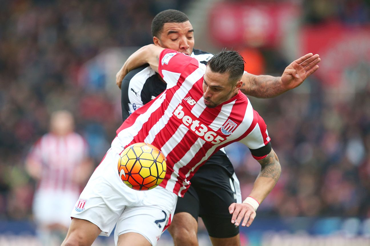 Geoff Cameron returned to action for Stoke City after a long injury layoff