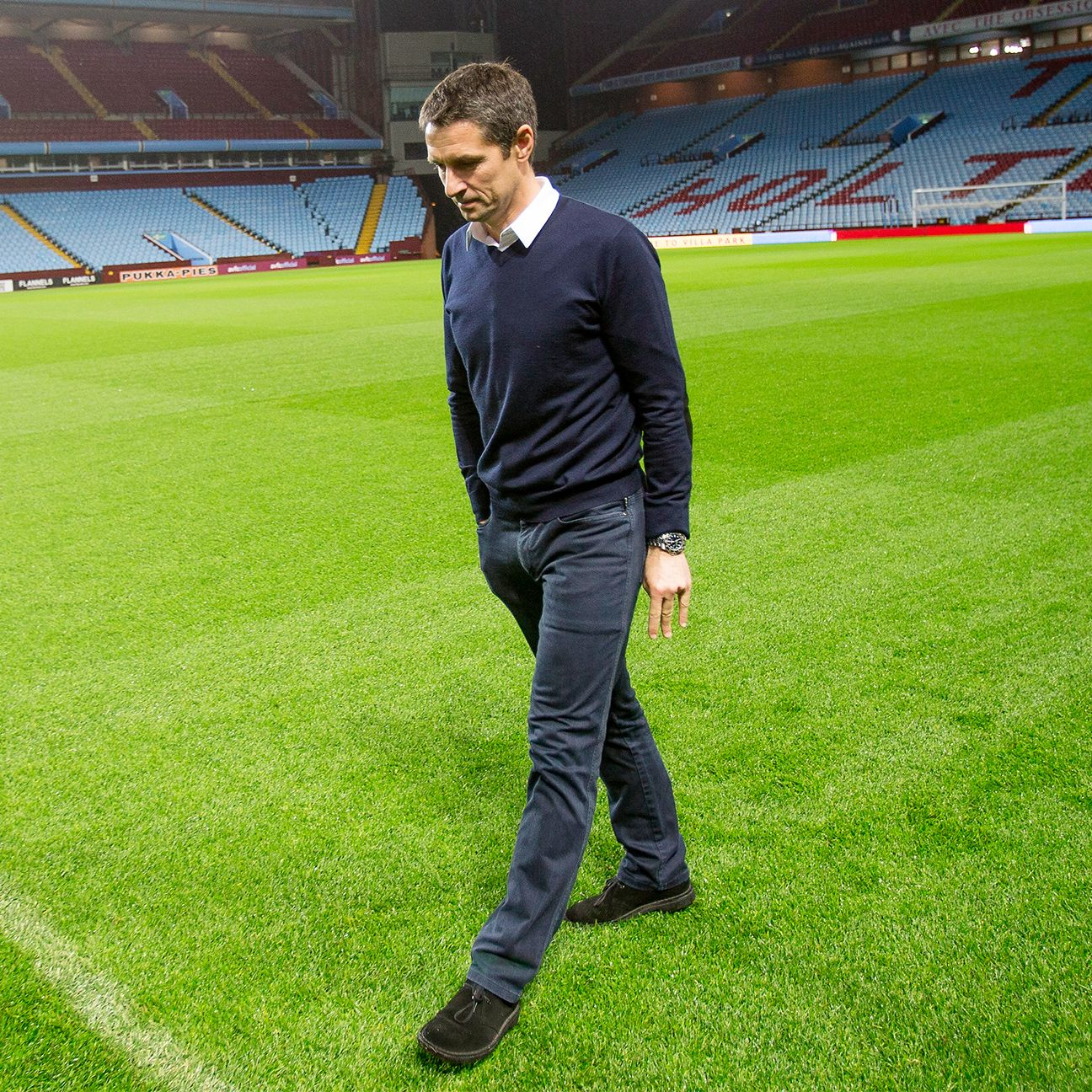 Remi Garde's rebuilding task at Aston Villa begins Sunday against Manchester City.