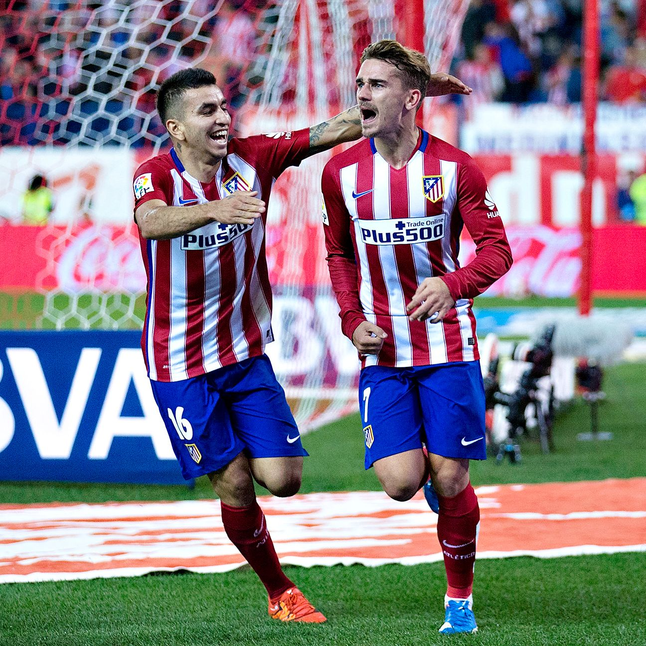 Antoine Griezmann's late goal earned Atletico a vital three points.