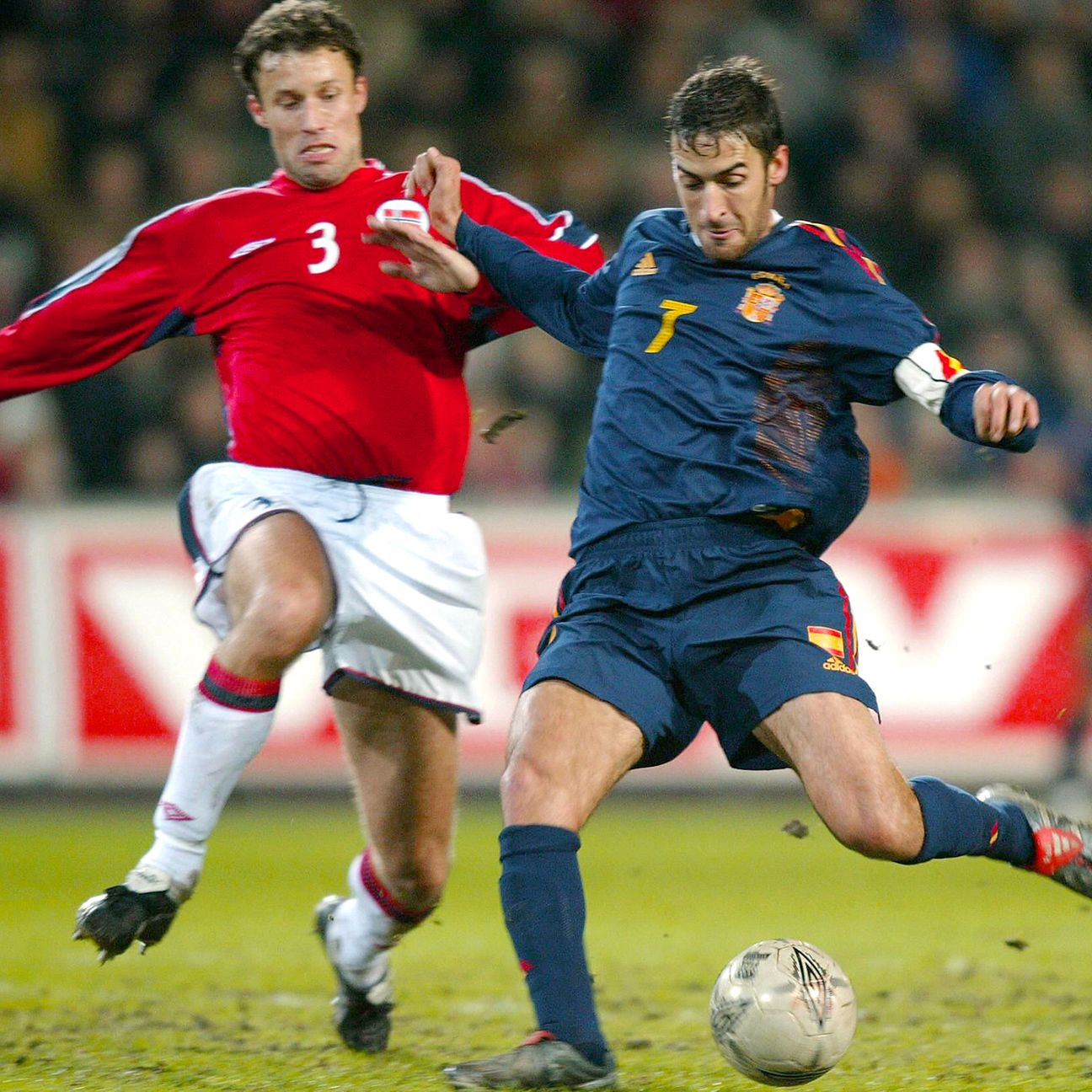 Raul and Spain avenged their Euro 2000 group stage defeat to Norway by downing the Scandinavians in the Euro 2004 playoffs.