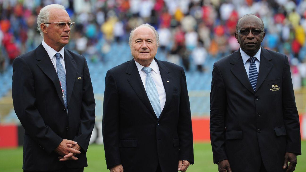 Franz Beckenbauer Sepp Blatter Jack Warner