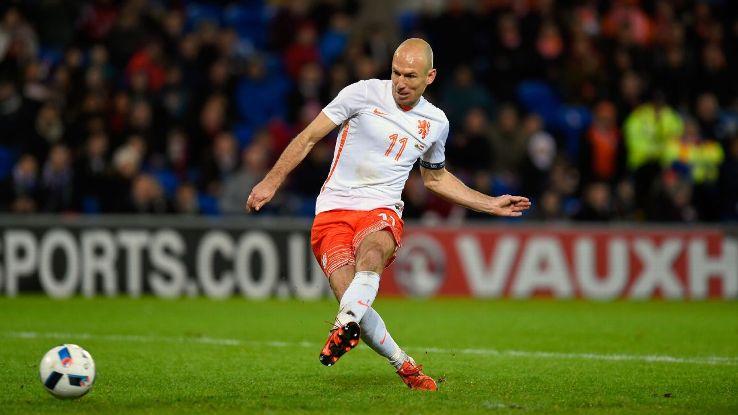 Arjen Robben goal Netherlands Wales