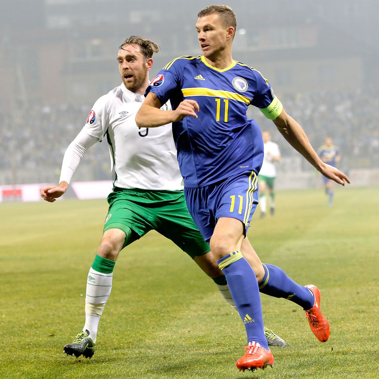 Bosnia-Herzegovina will be looking to build off of Edin Dzeko's late equaliser from the first leg when they travel to Ireland for Monday's return leg.