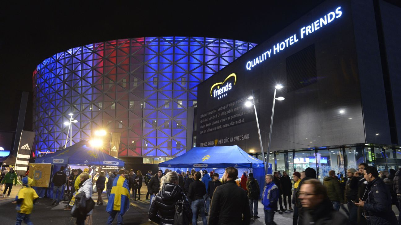 Sweden vs. Norway pregame stadium shot 151114