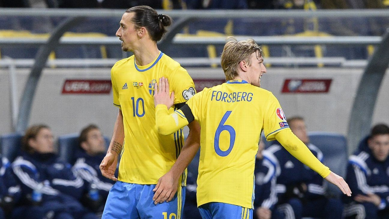 Emil Forsberg upstages Ibrahimovic as Sweden take upper hand vs. Denmark