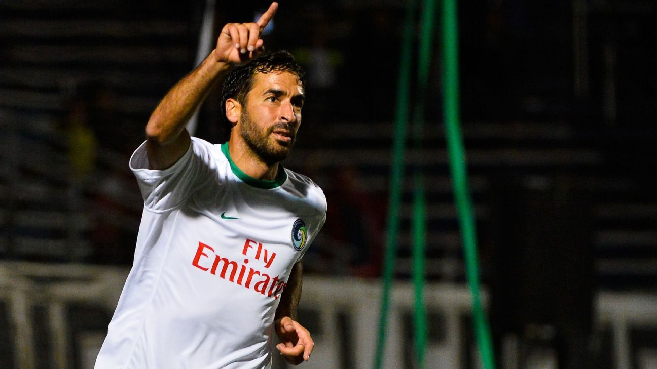 Raul closed his career in style, winning his 22nd title on Sunday night with the New York Cosmos in the North American Soccer League.