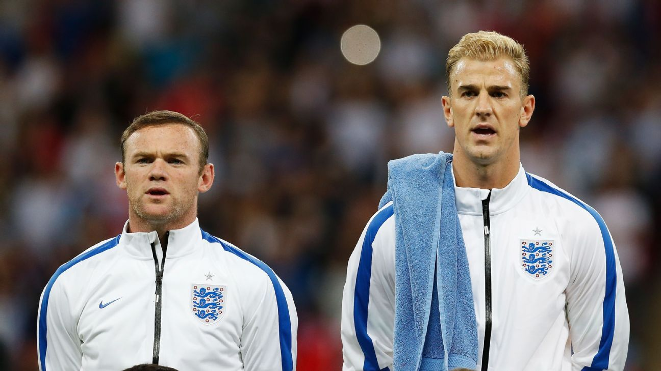 Wayne Rooney and Joe Hart