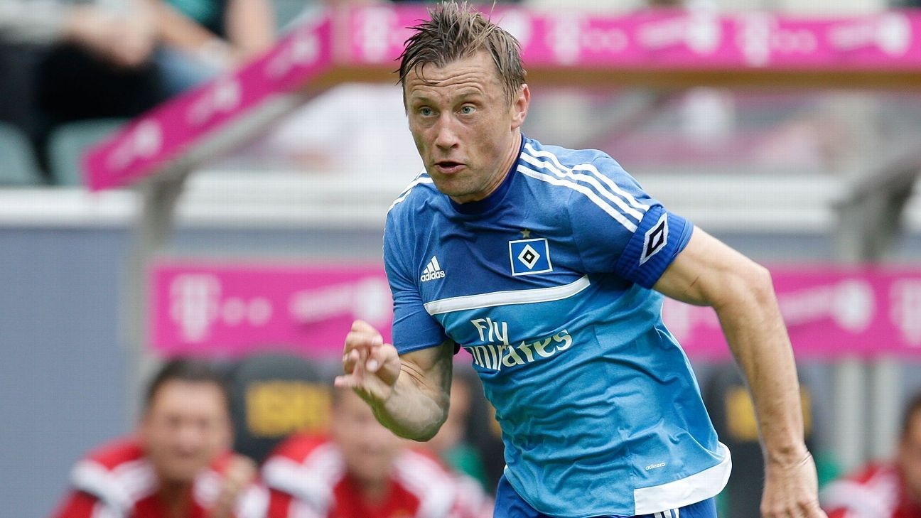 Ivica Olic of Hamburger SV during the Telekom Cup friendly match between Hamburger SV and FC Augsburg on July 12, 2015 at the Borussia Park stadium in Monchengladbach, Germany.