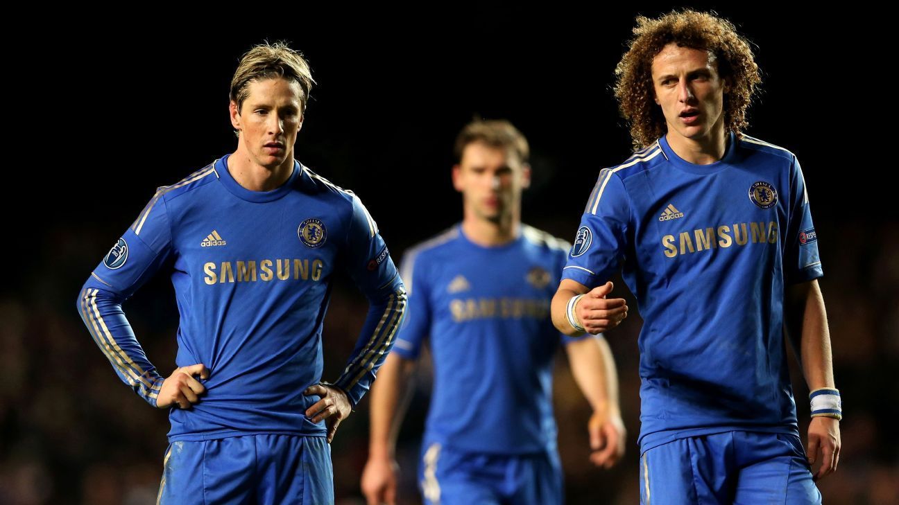 Fernando Torres and David Luiz