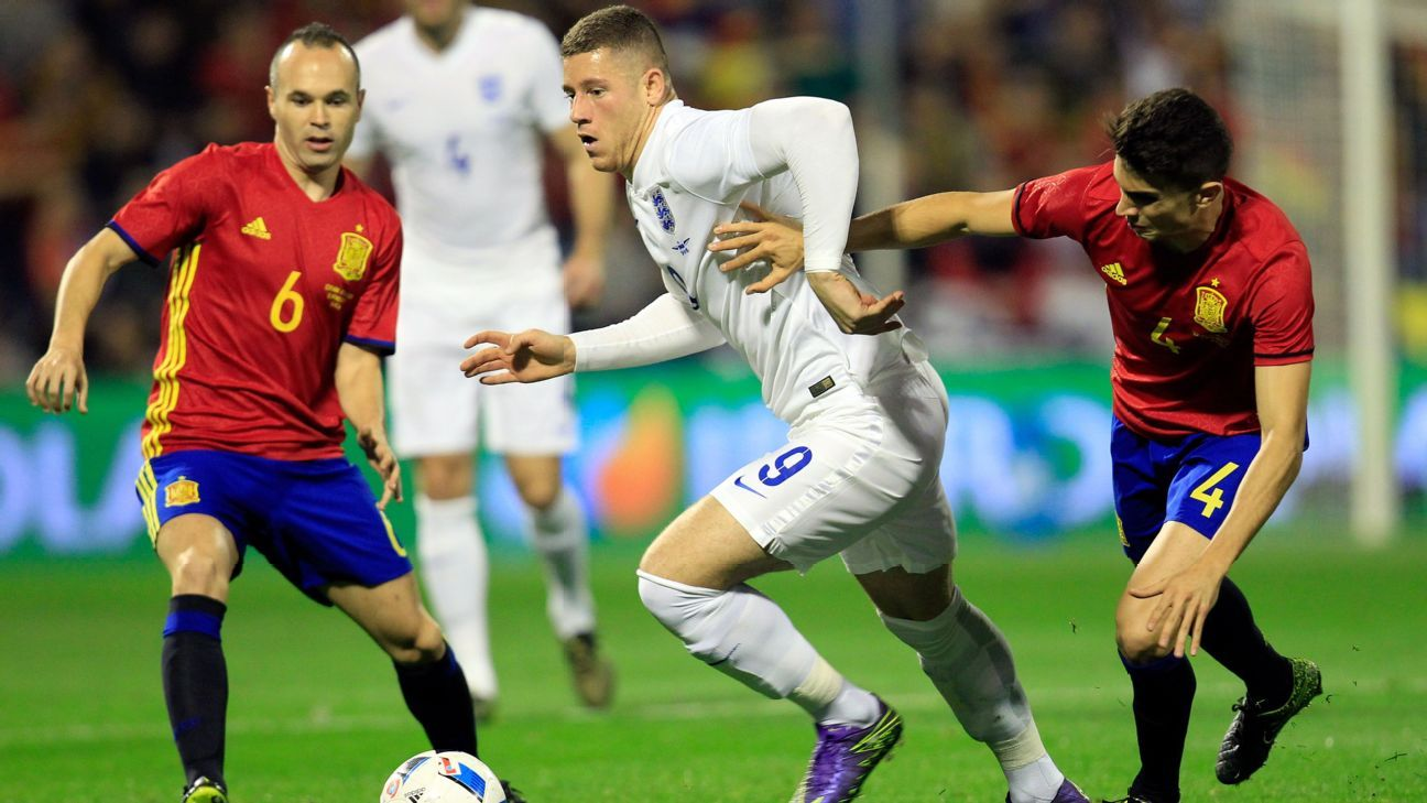 Everton's Ross Barkley was one of England's better performers in their friendly defeat to Spain.
