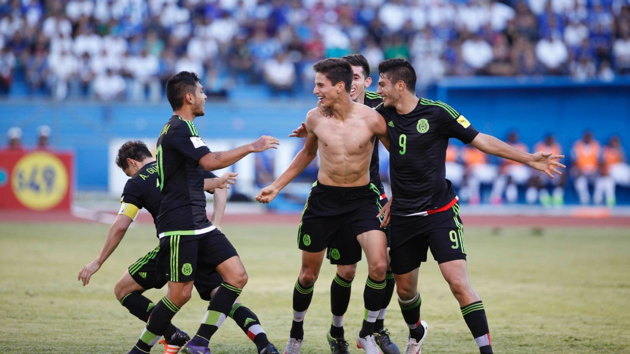 Goals from Jesus Corona, left, and Jurgen Damm, center, gave Mexico their first win in Honduras in 22 years.