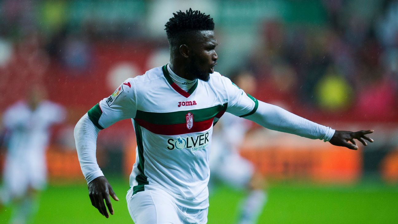 Isaac Success has three goals in nine games this season with Granada.