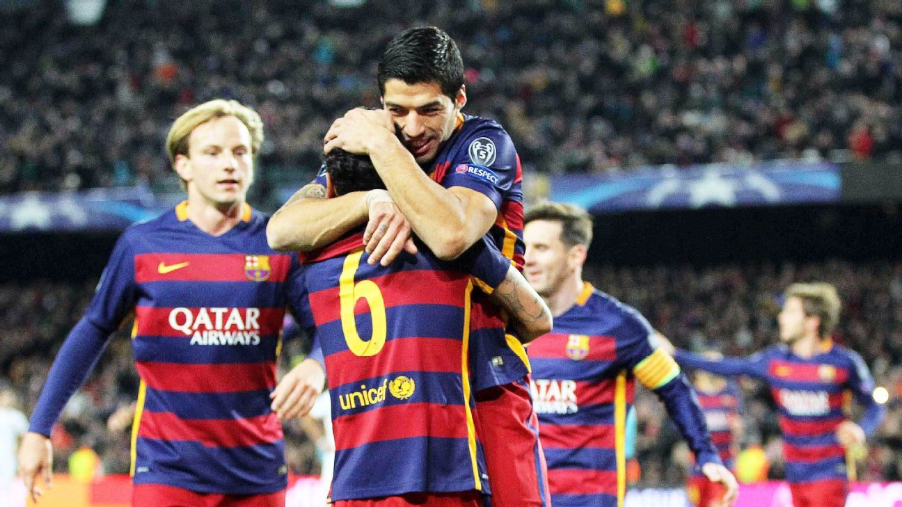 Luis Suarez has accounted for five of Barcelona's 14 Champions League goals.
