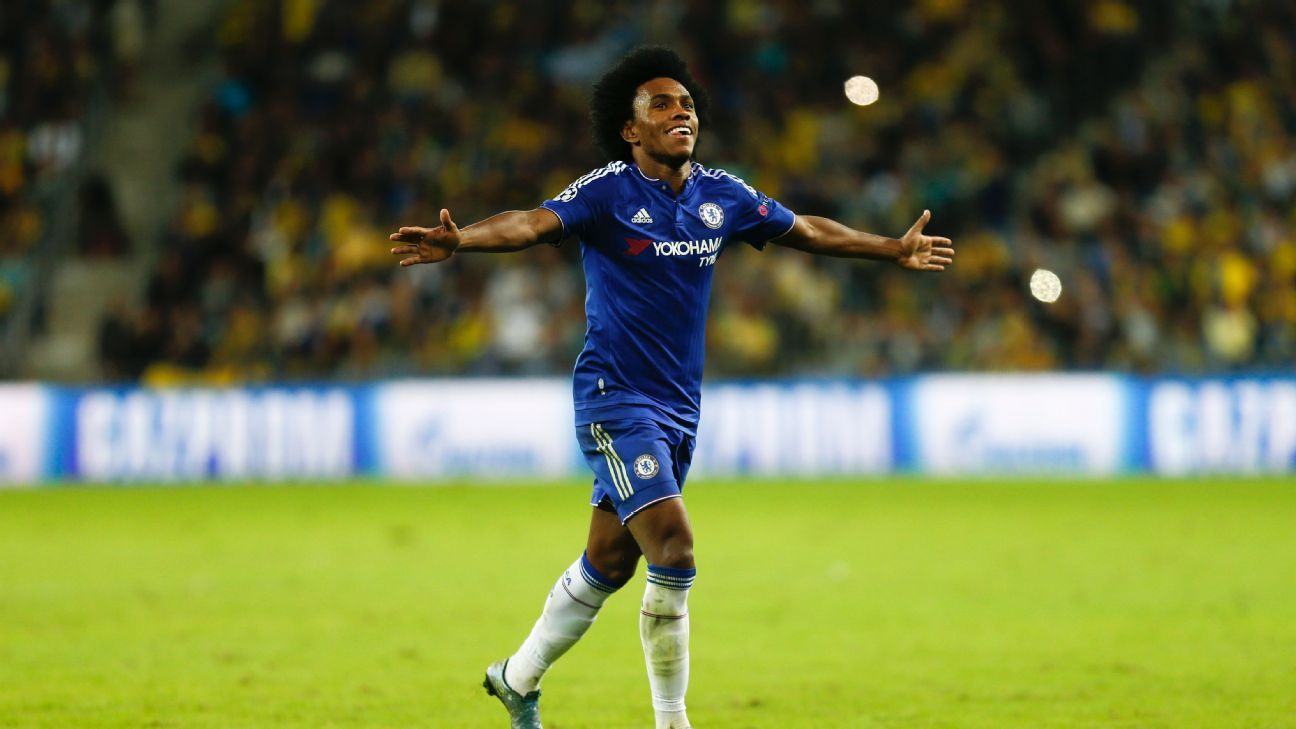 After rescuing Chelsea in the previous Champions League matchday against Dynamo Kiev, Willian was the instrumental figure in Tuesday's win at Maccabi Tel Aviv.