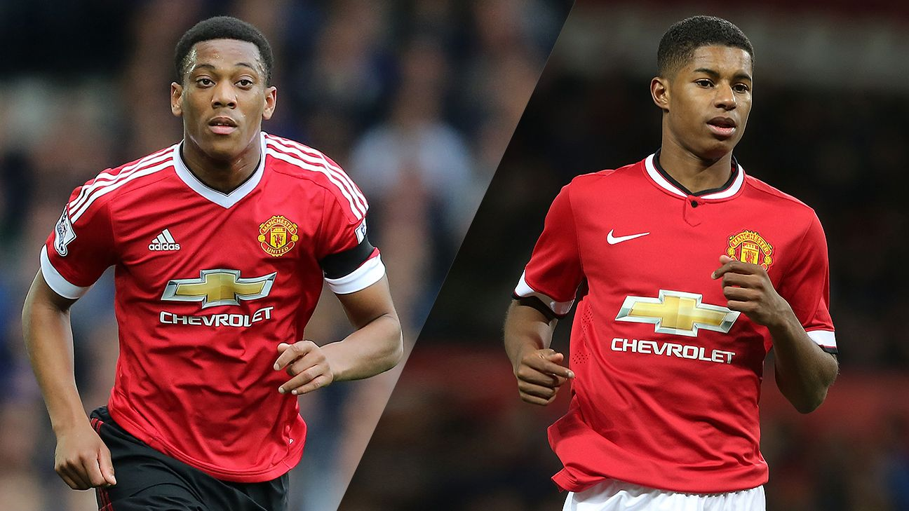 Anthony Martial has impressed since joining United while Marcus Rashford continues to rise in the club's youth ranks.