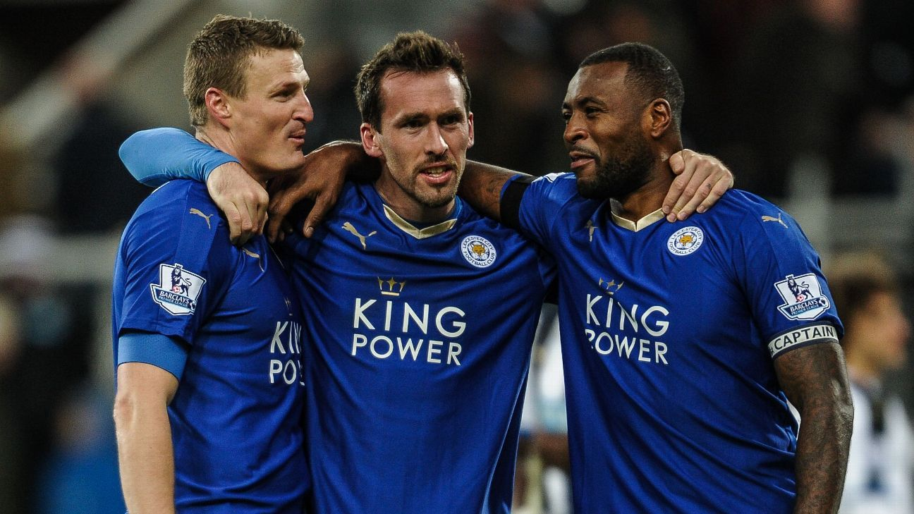 Robert Huth, Christian Fuchs, Wes Morgan