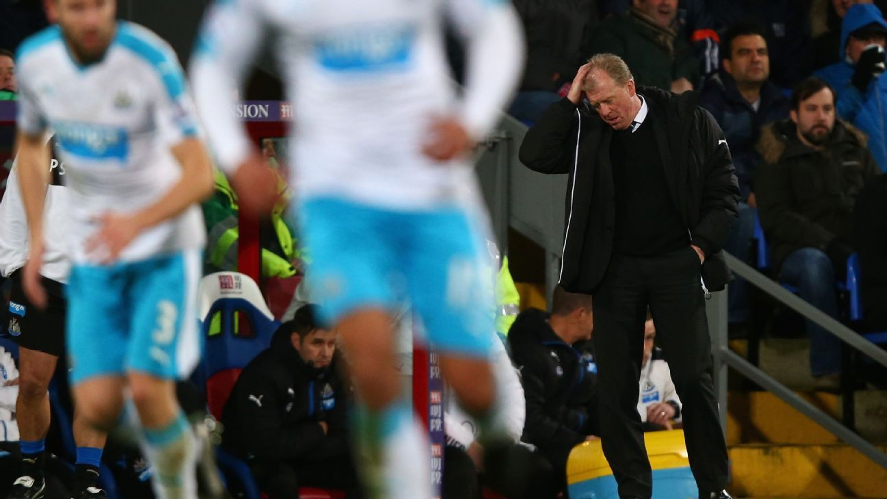 Steve McClaren's tenure at Newcastle is on shaky ground after Saturday's 5-1 defeat at Crystal Palace.