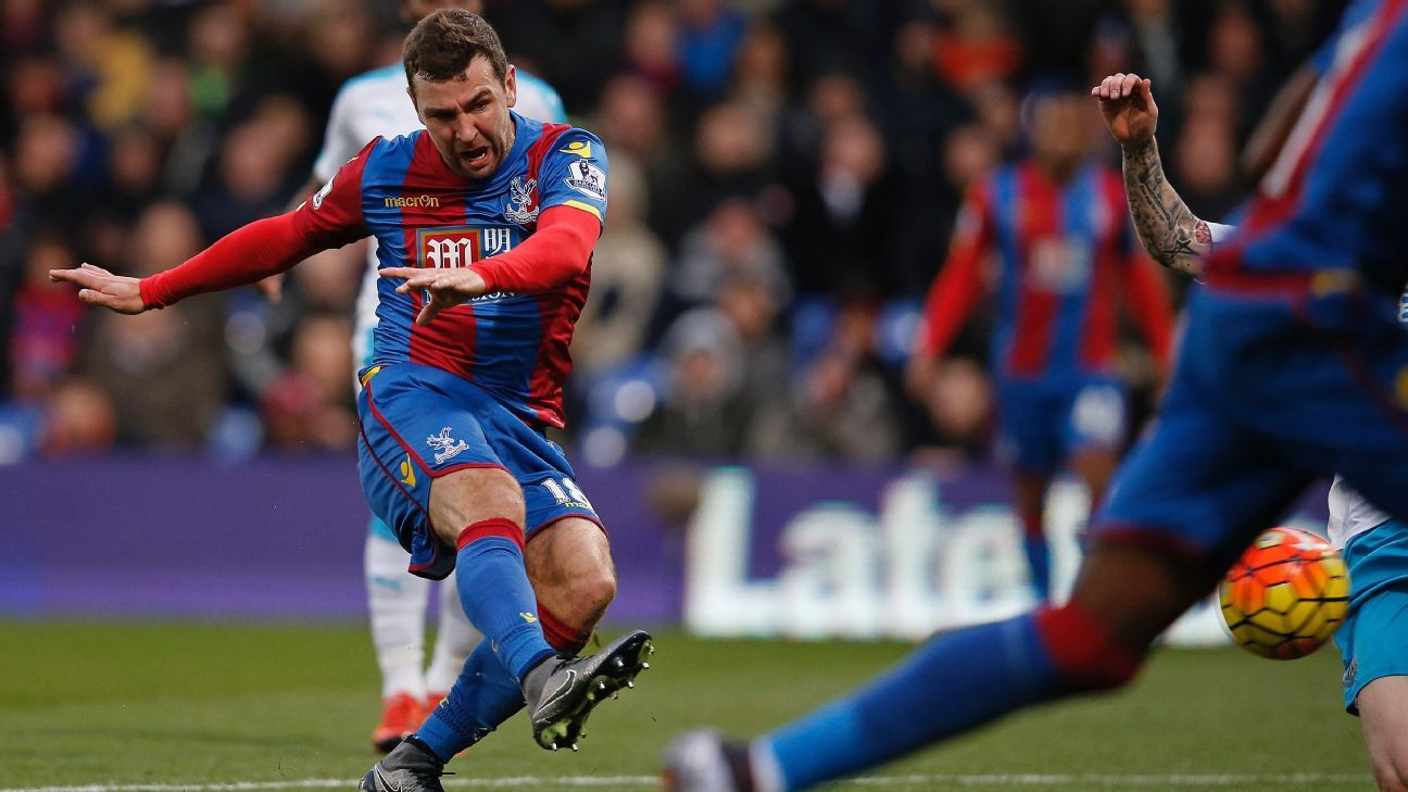 James McArthur's double helped Crystal Palace sink Newcastle 5-1 on Saturday.
