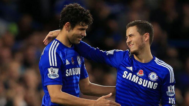 Hasil gambar untuk Eden Hazard dan juga Diego Costa