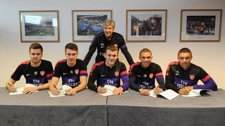 Nearly three years after their famed long-term contract signings, Arsenal's British core will be more important than ever for manager Arsene Wenger.