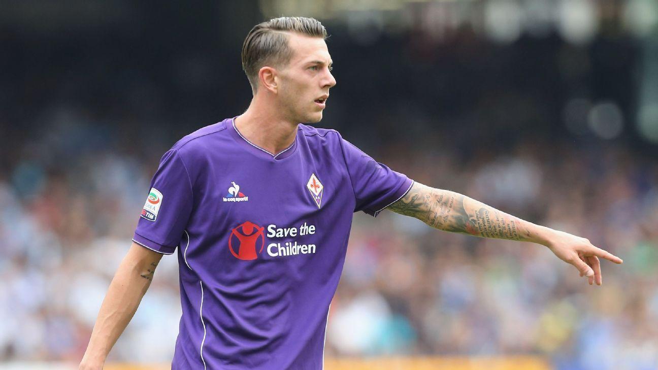 Fiorentina s Federico Bernardeschi arrives for Juventus medical