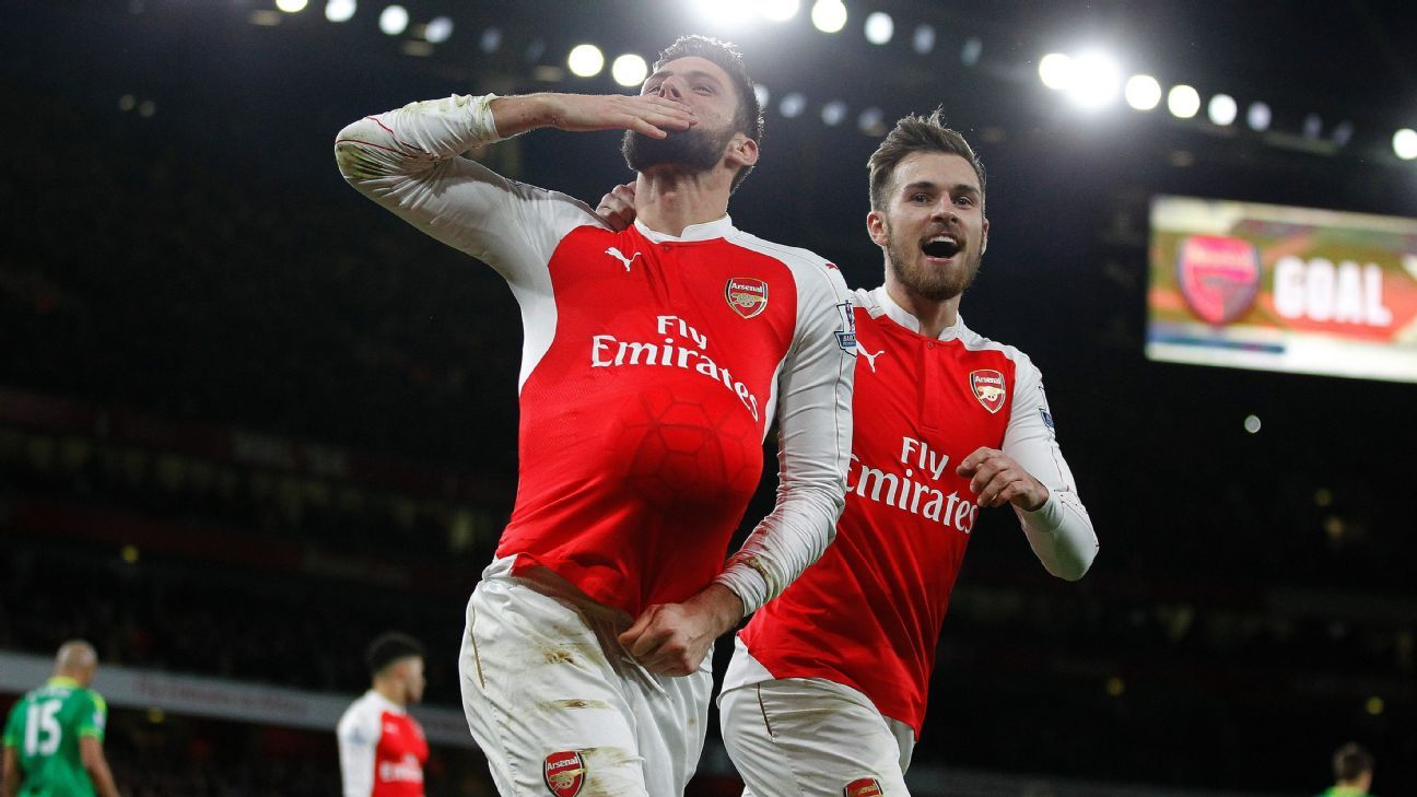 Image result for 'Arsenal are better with Giroud in the team'
