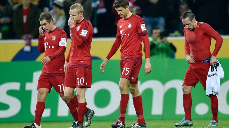 Bayern Munich suffered their first Bundesliga defeat of the season on Saturday against Borussia Monchengladbach.