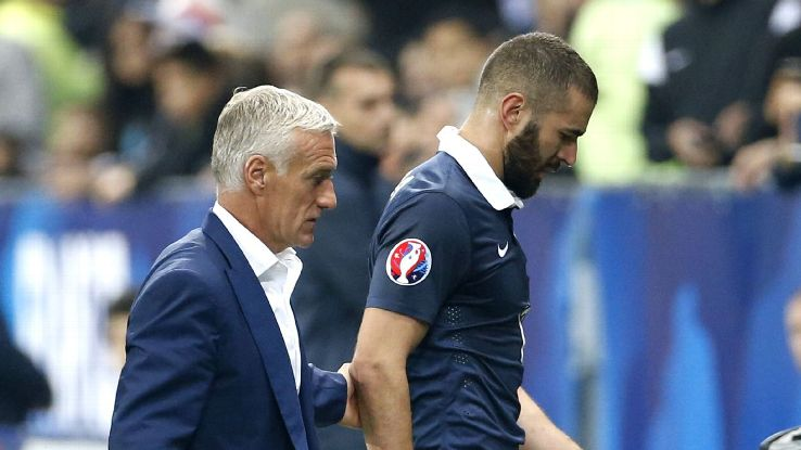 Photo of Didier Deschamps & his friend  Karim Benzema